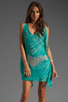 Image 1 of Jay Godfrey Brin Kimono Dress in Aqua Putty Multi