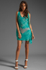 Image 2 of Jay Godfrey Brin Kimono Dress in Aqua Putty Multi