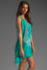 Image 3 of Jay Godfrey Brin Kimono Dress in Aqua Putty Multi