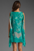 Image 4 of Jay Godfrey Brin Kimono Dress in Aqua Putty Multi