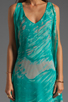 Image 5 of Jay Godfrey Brin Kimono Dress in Aqua Putty Multi