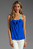 Image 1 of Jay Godfrey Ginger Low Back Tank in Sapphire Blue/Sky Blue