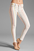 Image 1 of J Brand Low Rise Legging in Candy Stripe