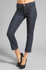 Image 1 of J Brand Sylvie Mid Rise Crop Flare in Clean Rinse