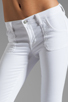 Image 4 of J Brand Retro Zip Skinny in Blanc
