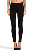 Image 1 of J Brand Mid Rise Super Skinny in Black