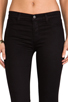 Image 4 of J Brand Mid Rise Super Skinny in Black