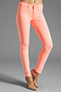 Image 1 of J Brand Twill Skinny in Neon Coral