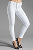 Image 1 of J Brand Roz Mid Rise Stitch Skinny in Blanc