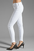 Image 2 of J Brand Roz Mid Rise Stitch Skinny in Blanc