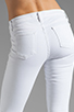 Image 6 of J Brand Roz Mid Rise Stitch Skinny in Blanc