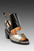 Image 1 of Jeffrey Campbell Sybil in Black Pewter/Black Suk