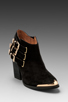 Image 1 of Jeffrey Campbell Westin in Black Suede Gold
