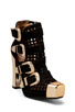 Image 2 of Jeffrey Campbell Charisma in Black Suede Perf/Gold