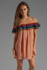 Image 1 of Jen's Pirate Booty T&B Senorita Dress in Clay/Colorful Stripe