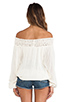 Image 3 of Jen's Pirate Booty Paradise Cove Off Shoulder Top in Natural