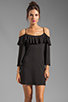 Image 1 of James & Joy Natalie Open Shoulder Dress in Black