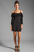 Image 2 of James & Joy Natalie Open Shoulder Dress in Black