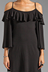 Image 5 of James & Joy Natalie Open Shoulder Dress in Black
