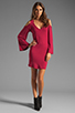 Image 2 of James & Joy Faith Dress in Burgundy