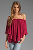 Image 1 of James & Joy Haley Convertible Top in Berry