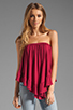 Image 3 of James & Joy Haley Convertible Top in Berry