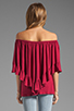Image 4 of James & Joy Haley Convertible Top in Berry