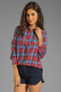 Image 1 of Joe's Jeans Plaid Button Down Shirt in Crimson