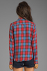 Image 2 of Joe's Jeans Plaid Button Down Shirt in Crimson