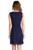 Image 4 of Joie Allover Lace Nikolina B Dress in Royal Navy