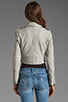Image 3 of Joie Dolores B Paper Leather Jacket in Pale Grey