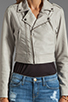 Image 4 of Joie Dolores B Paper Leather Jacket in Pale Grey