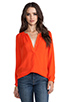 Image 1 of Joie Kade Blouse in Spicy Orange