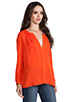 Image 2 of Joie Kade Blouse in Spicy Orange