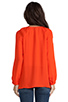 Image 3 of Joie Kade Blouse in Spicy Orange