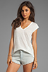 Image 1 of Joie Yulina Linen Tee in Porcelain
