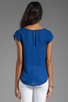 Image 2 of Joie Matte Silk Rancher Top in Peruvian Blue