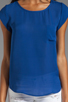 Image 3 of Joie Matte Silk Rancher Top in Peruvian Blue