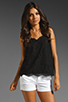 Image 1 of Joie Cina Lace Tank in Caviar