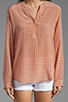 Image 3 of Joie Jira Mini Geo Print Blouse in Carrot