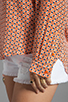 Image 4 of Joie Jira Mini Geo Print Blouse in Carrot