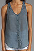 Image 3 of Joie Elisandra Denim Tank in Prairie Blue