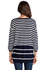 Image 3 of Juicy Couture Peyton Stripe Sweater in Regal/Angel