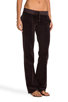 Image 2 of Juicy Couture Velour Flared Leg Pant with Snap Pockets in Chestnut