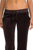 Image 4 of Juicy Couture Velour Flared Leg Pant with Snap Pockets in Chestnut