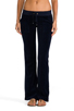 Image 1 of Juicy Couture Velour Bootcut Pant with Snap Pockets in Regal