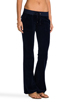 Image 2 of Juicy Couture Velour Bootcut Pant with Snap Pockets in Regal
