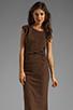 Image 1 of Kain 1x1 Miika Dress in Cinnamon/Black Stripe