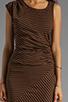 Image 5 of Kain 1x1 Miika Dress in Cinnamon/Black Stripe
