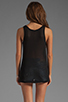 Image 2 of Kain Sheer Jersey Vaughn Tank in Black
